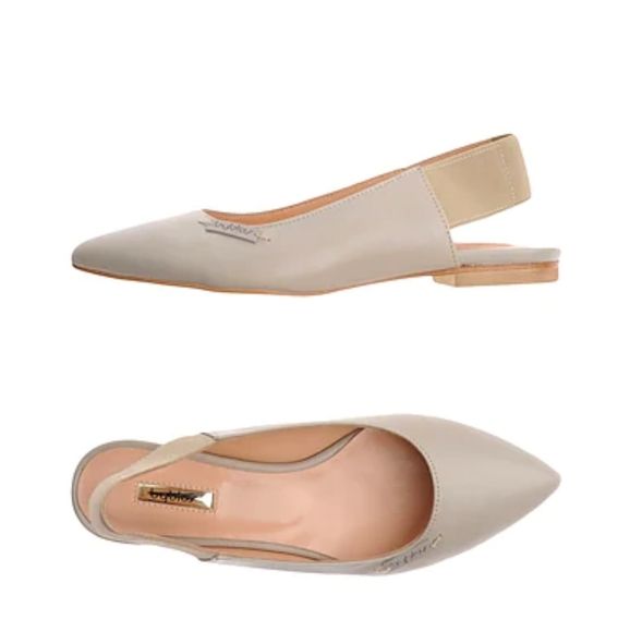 BYBLOS (made in Italy) Beige Ballet Genuine Leather Flats